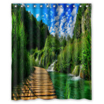 Natural Park #01 Shower Curtain Waterproof Made From Polyester - $31.26+