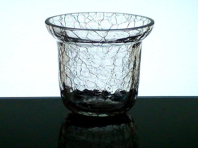 Hanging Crackle Glass Votive Holder Cup 3 X 2 75 Flared
