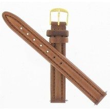 Timex Ladies 12mm -15/32 Inches Brown Oil-Skin Leather Watch Band TX7971... - $18.76