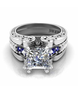 Jbr Vintage Inspired Solitaire Princess Cut Sterling Silver Ring - $120.04