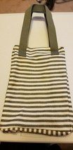 Thirty-One Twice As Nice Tote (new) OLIVE TWILL STRIPE - $24.22