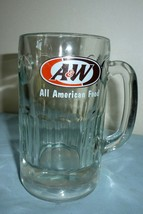 "GLASS MUG A&W ALL AMERICAN FOOD Root Beer Rootbeer 7"" Logo dates 1995 Vi... - $21.05"