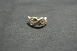 Vintage Unbranded Silver EternityRing Size 8 - $4.20