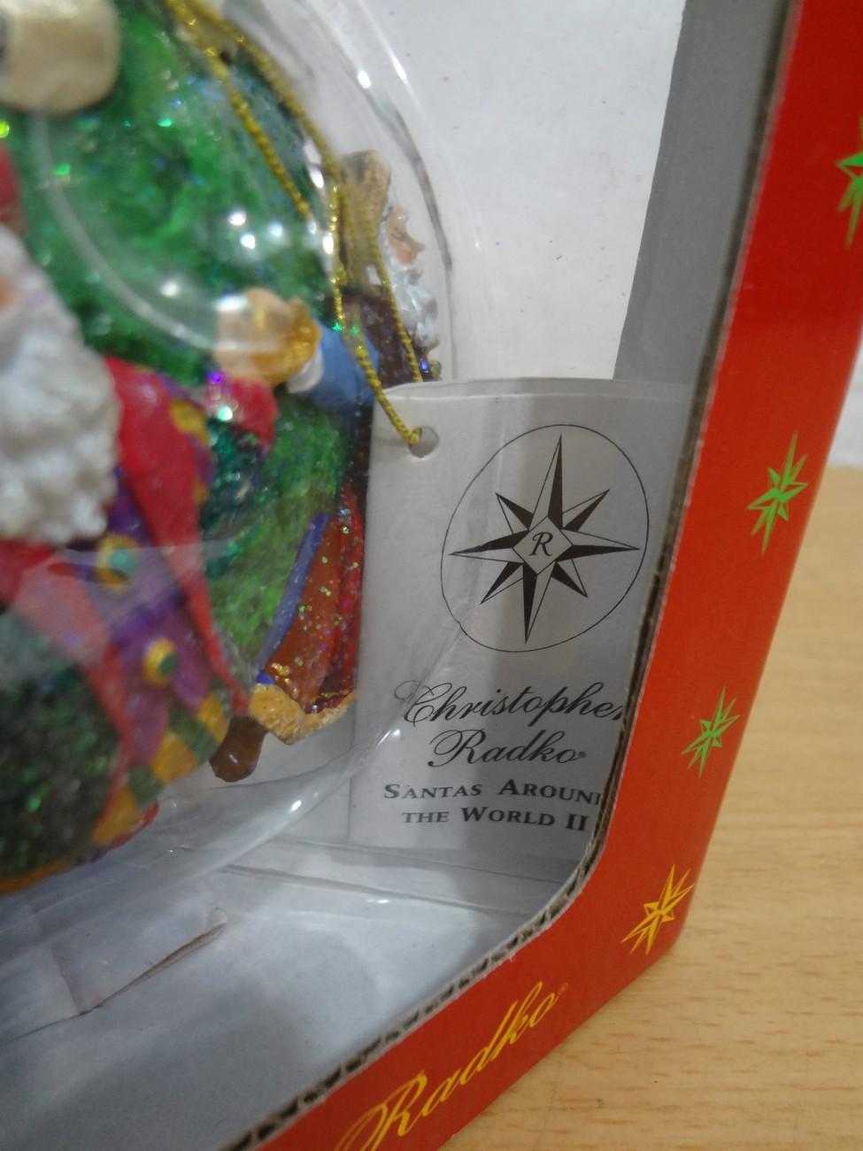 Christopher Radko Santas Around the World Ornament II NEW USA Holland Japan ++