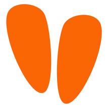 LiteMark Orange Alien Footprint Decal Stickers - Pack of 12 - $19.95