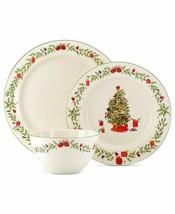 Lenox Holiday Inspirations & Illustrations 3 Pc. Place Setting Christmas... - $44.99