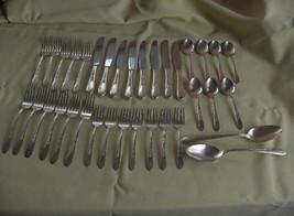 Vintage 34-Piece Silver Plate Flatware,Priscilla,Lady Ann,1960 NICE - $143.55