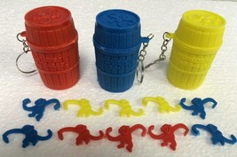Monkeys In The Barrel Key Chain Ring Keychain - Choose from 3 Colors! - $4.69