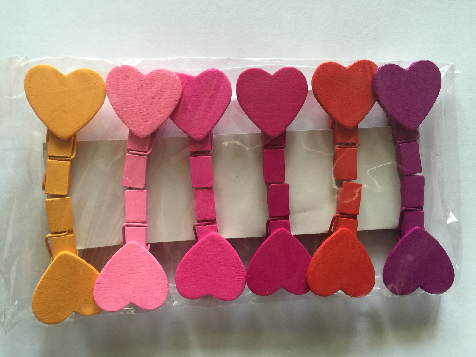Primary image for 36pcs Heart Wooden Clip,wooden pegs,Mini Bag Paper Clip,Wedding Fashion Gifts