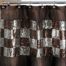 Popular Bath Elite Orb 70 x 72 Bathroom Fabric Shower Curtain & Hook Set - $35.19