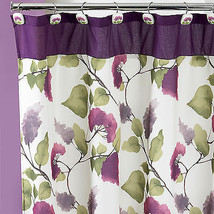 Popular Bath Jasmine Plum 70 x 72 Fabric Bathroom Shower Curtain - $30.79