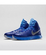 Nike Lunar Hyperquickness TB Blue Silver Basketball Size 11 Shoes 652775 406 - $63.54