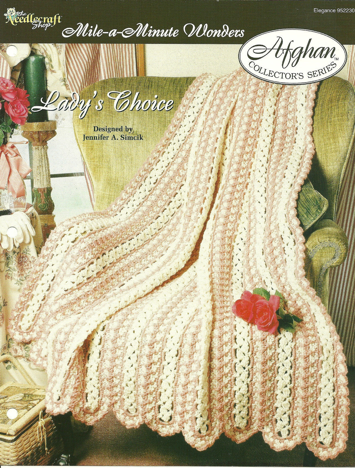 Needlecraft Shop Crochet Pattern 952230 Ladys Choice Afghan Collectors Series