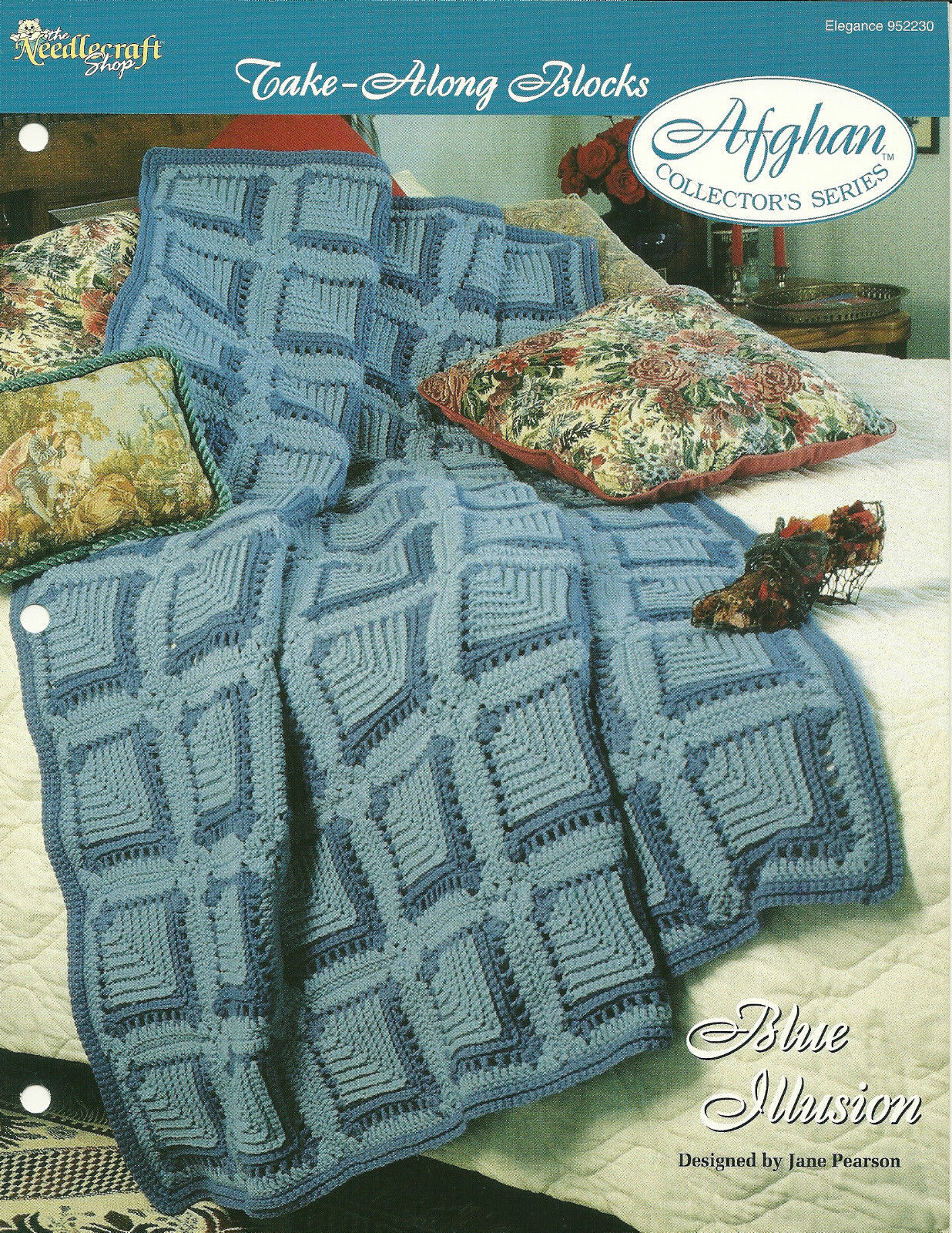 Needlecraft Shop Crochet Pattern 952230 Blue Illusion Afghan Collectors Series