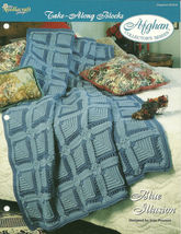 Needlecraft Shop Crochet Pattern 952230 Blue Illusion Afghan Collectors ... - $4.99