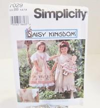 Simplicity Daisy Kingdom Sz BB 5,6,7,8 Sewing Pattern 7029 Child Dress P... - $12.19
