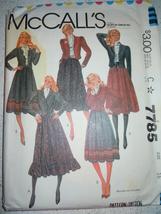 McCall's Misses & Junior Petite Size 16 Jacket & Skirt  Pattern #7785 Uncut - $4.99