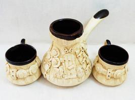 Ceramic Turkish Coffee Maker Porcelain Set Pot ... - $12.87