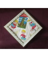 Vintage BOXED Set of 3 Childrens HANKIES HANDKERCHIEFS with Jigsaw Puzzl... - $29.50