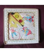 Vintage BOXED Set of 3 Childrens HANKIES HANDKERCHIEFS with toy Artist P... - $25.00