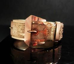 Antique Buckle bracelet Rose gold filled Victorian sweetheart bangle Orn... - $265.00