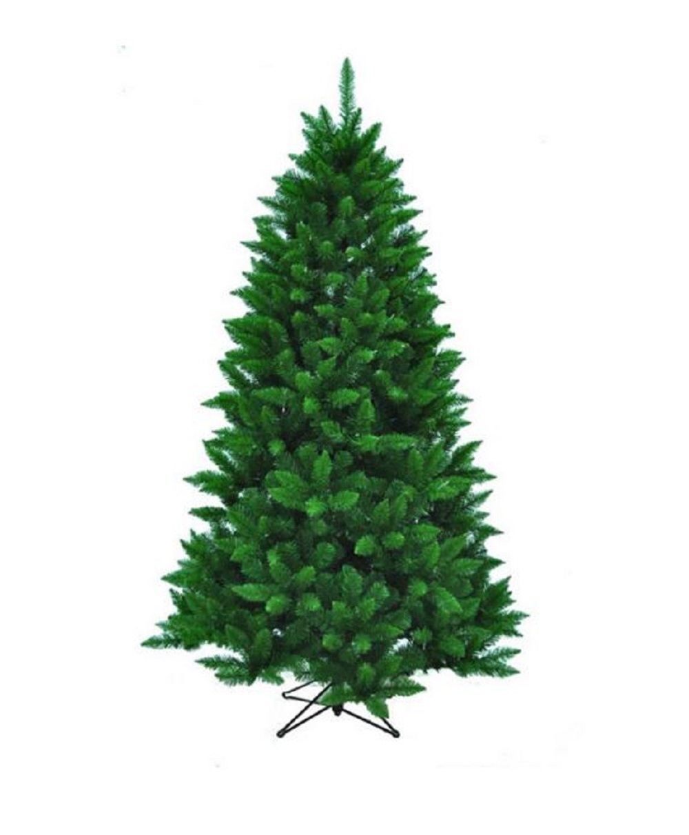 Unlit Artificial Christmas Tree 7 ft 1026 Tips with Stand Home Holiday Decor NEW