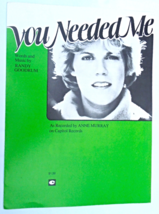 """Vintage Sheet Music - 1978 - """"You Needed Me"""" Recorded by Anne Murray   #... - $7.99"""