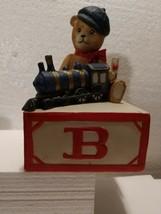 Vintage Music Box By Schmid Gordon Frazier 1984 Bear Alphabet Box - $4.95