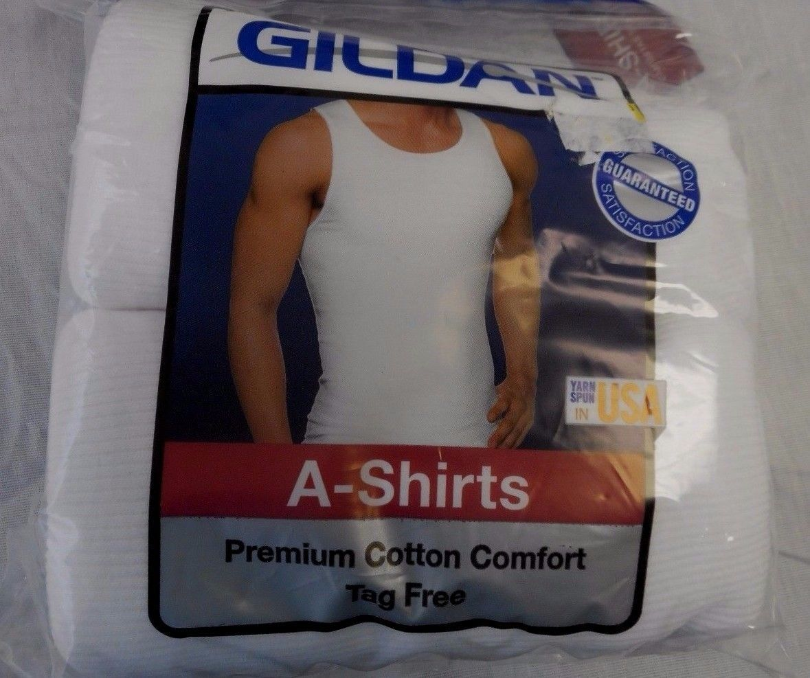 Primary image for Men's Gildan  A  Shirts 2 Pack Size Small 34-36 White  NEW