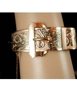 Antique Victorian Bangle Buckle bracelet Rose gold filled taille d' eper... - $335.00