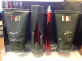 ANGEL B MEN SET EDT TRAVEL SPRAY+1 RECHARGE 0.5 OZ+1.7 OZ B/SHAMPOO+1.7 ... - $18.32