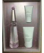 L'eau D'Issey Florale 3-Pc Gift Set 3 oz edt sp+blot+sh/cr****COLLECTORS... - $42.75
