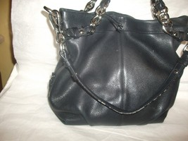 COACH 14142 Black Leather Brooke Satchel Conver... - $44.54