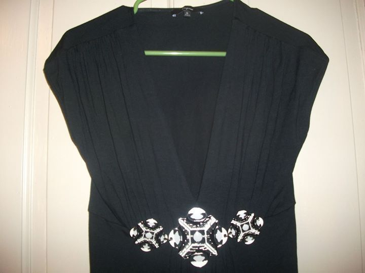 Primary image for Misses Black Express Top Jewelry Embellished Size M