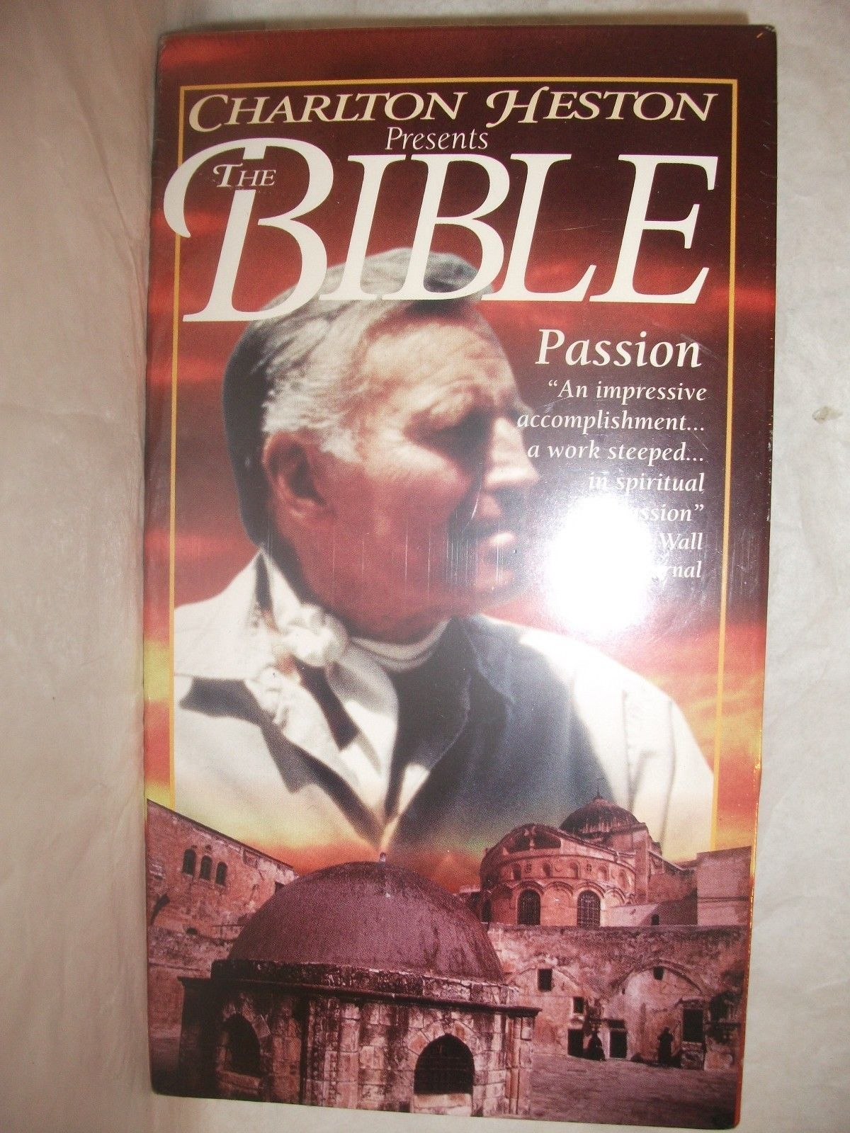 Primary image for Charlton Heston Presents the Bible: Passion SEALED VHS