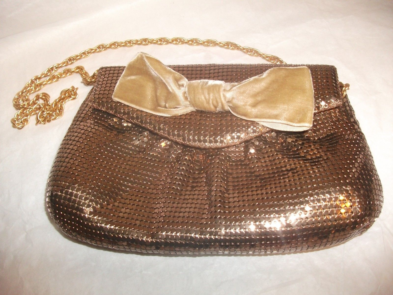 Primary image for Talbots Gold Metal Mesh Clutch Purse