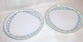Lot 2 Franciscan BLUE FANCY Bread Plates - $19.79