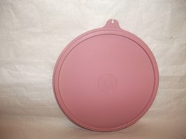 """Tupperware Replacement Round Seal Cover Lid 227 Dusty Rose Pink 6"""" C Tab - $19.99"""