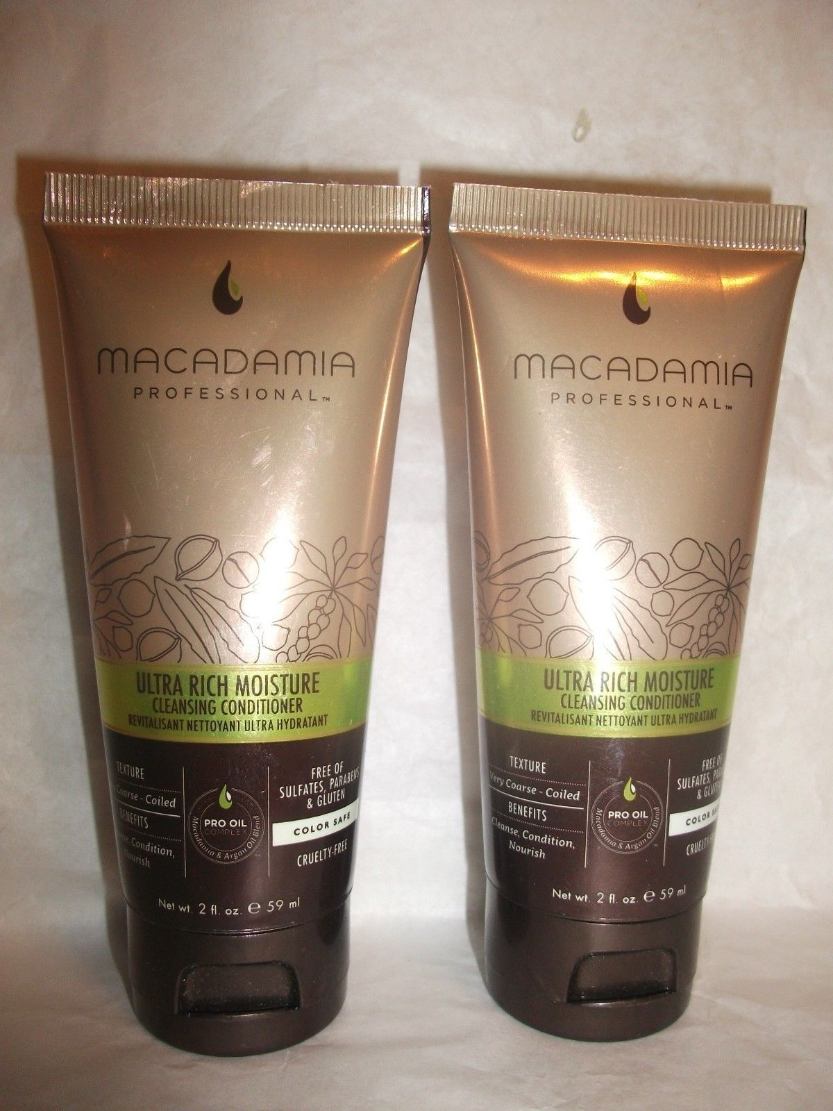 Primary image for 2 Macadamia Professional Ultra Rich Moisture Cleansing Conditioner 2oz Each NEW