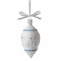 Wedgwood Vacanza Fiocco di Neve Ornamento Bianco Blu Lacrima Nuovo in Sc... - $38.33