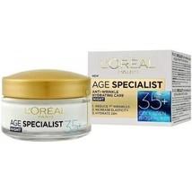 L'oreal Age Specialist 35+ Anti-Wrinkle Hydrating Moisturizing Night Cream 50 Ml - $14.94