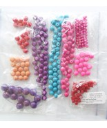 Bright Glass Bead LOT Candy Colors Round 4mm to 6mm to 10mm Jewelry Supply - $8.20