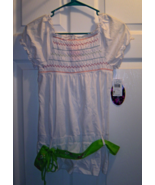 Tempted Girls Size XL White Short Sleeve Blouse... - $14.99