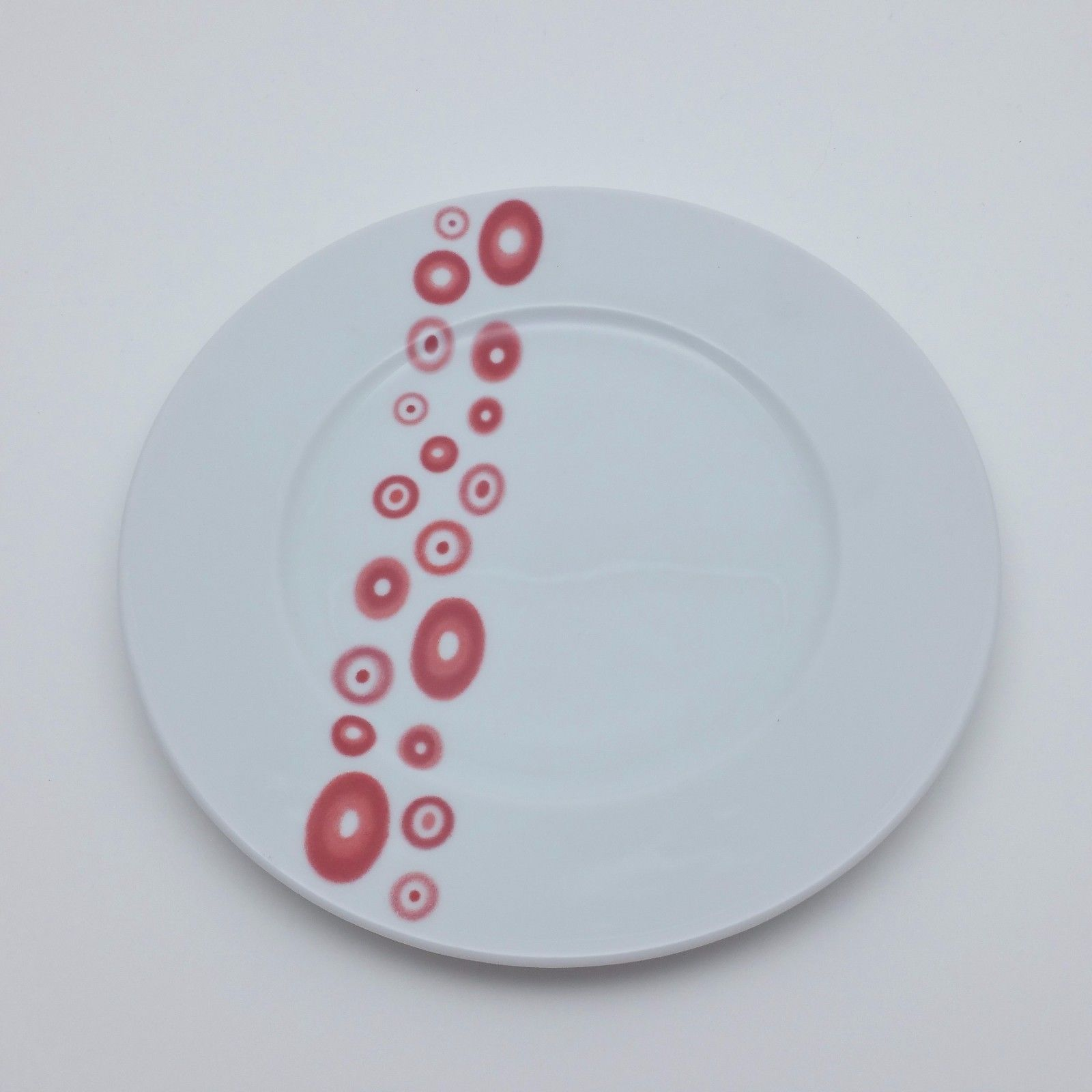 Primary image for Wawel Red Circle Dots Design Salad Plate Poland