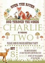PRINTABLE Woodland Forest Animals Birthday Invitations Personalized fox ... - £7.55 GBP