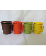 Vintage Tupperware Mugs with Lids / Coasters - ... - $9.99