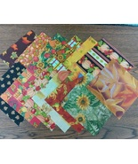 "Fall Autumn Themed Finishing Fabric 5"" x 5"" - 1... - $6.00"