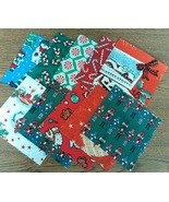 "Christmas Themed Finishing Fabric 5"" x 5"" - 10 ... - $3.00"