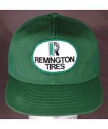 Vtg Remington Tire Trucker Hat-Green-Mesh-Patch-Snapback-Auto-Hipster-US... - $31.78