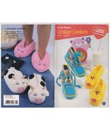 Free Ship Creature Comforts Crochet Knit Slippe... - $7.49
